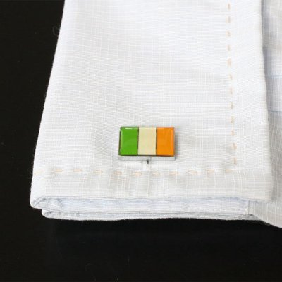 画像3: アイルランド国旗カフスボタン(カフリンクス)