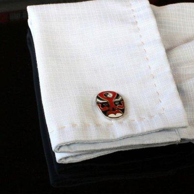 画像3: 変面レッドマスクカフスボタン(カフリンクス)