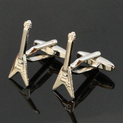 画像1: エレキギターフライングVスタイルカフスボタン(カフリンクス)