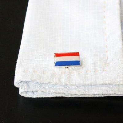 画像3: オランダ国旗カフスボタン(カフリンクス)