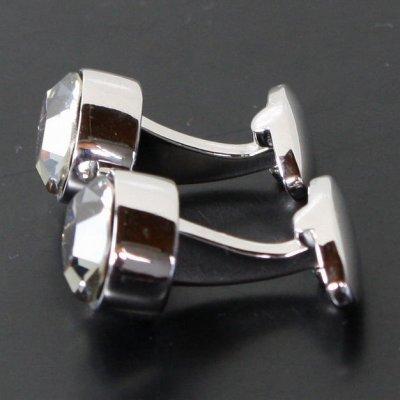 画像2: ブラックダイヤモンド・スワロフスキーカフスボタン(カフリンクス)