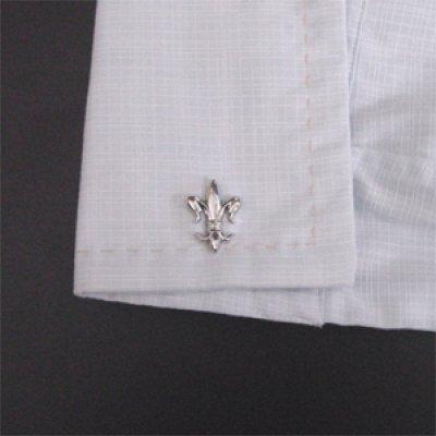 画像3: ユリの紋章カフスボタン(カフリンクス)