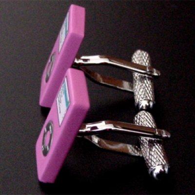 画像2: ピンクiPod nanoカフスボタン(カフリンクス)
