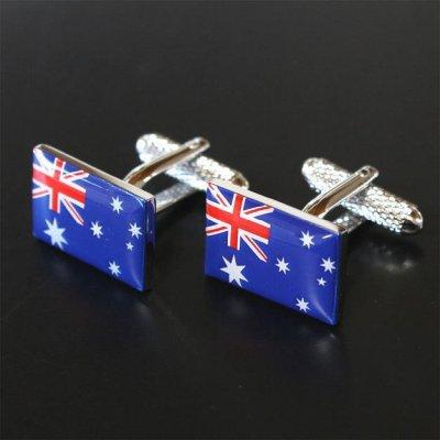 画像1: オーストラリア国旗カフスボタン(カフリンクス)