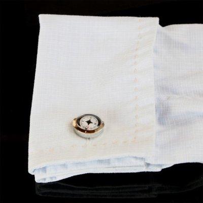 画像3: ホワイトコンパスカフスボタン(カフリンクス)