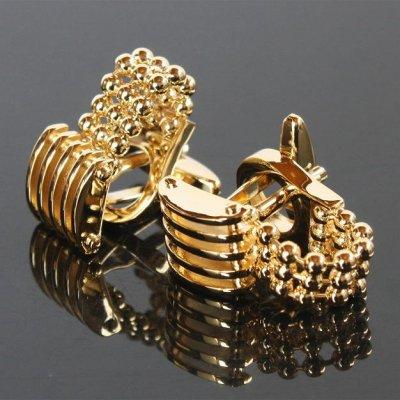 画像1: ゴールドチェーン付カフスボタン(カフリンクス)