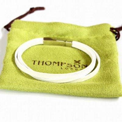 画像3: THOMPSON トンプソン トリプルホワイトレザーブレスレット