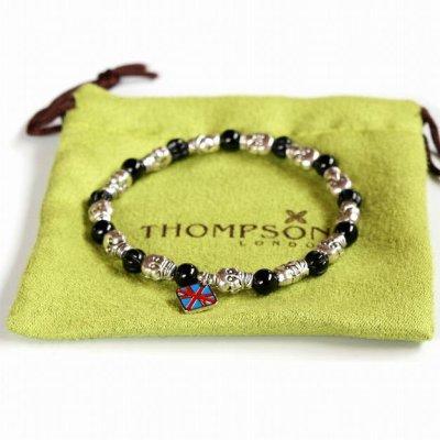 画像3: THOMPSON トンプソン スカル オニキスブレスレット