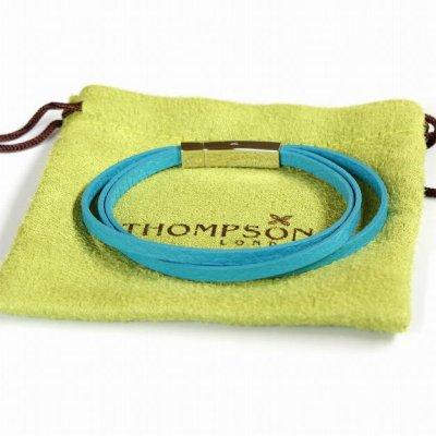 画像3: THOMPSON トンプソン トリプルターコイズレザーブレスレット