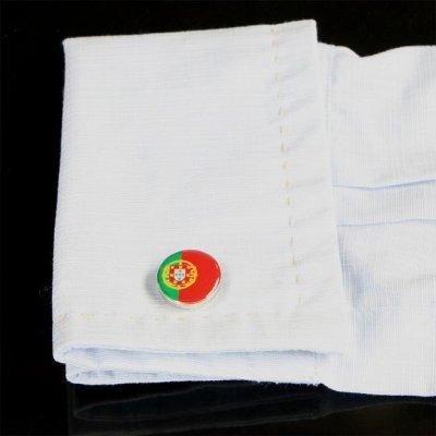 画像3: ポルトガル国旗ラウンドカフスボタン(カフリンクス)