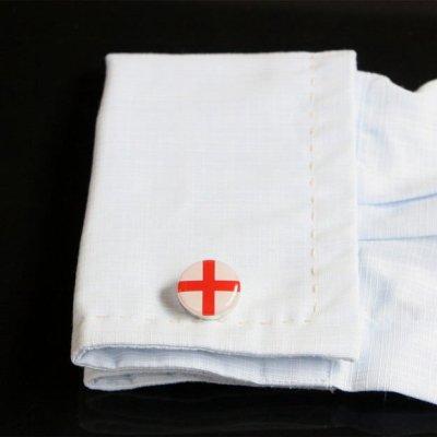 画像3: イングランド国旗ラウンドカフスボタン(カフリンクス)