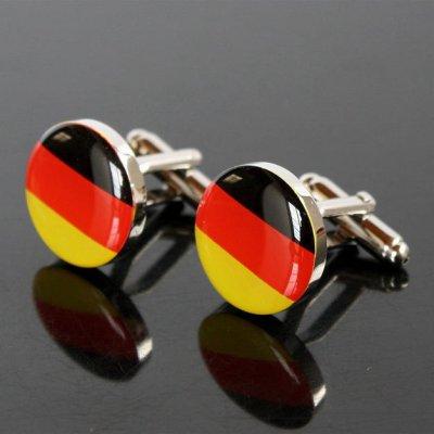 画像1: ドイツ国旗ラウンドカフスボタン(カフリンクス)