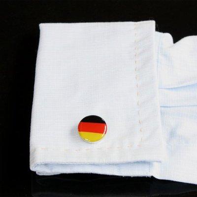 画像3: ドイツ国旗ラウンドカフスボタン(カフリンクス)
