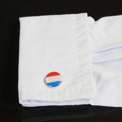 画像3: オランダ国旗ラウンドカフスボタン(カフリンクス)