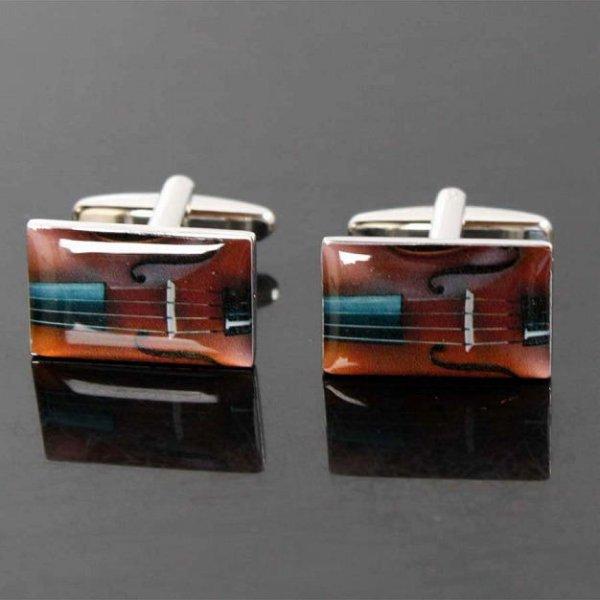 画像1: ヴァイオリンカフスボタン(カフリンクス) (1)