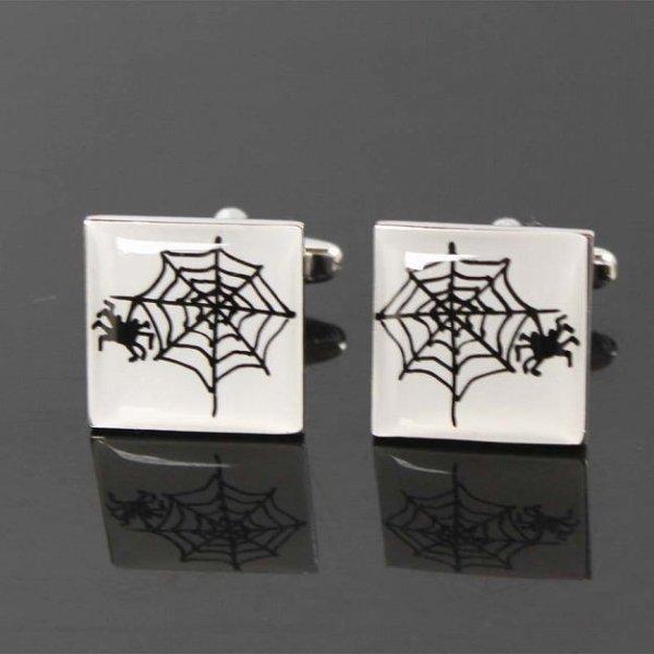 画像1: 蜘蛛の巣カフスボタン(カフリンクス) (1)
