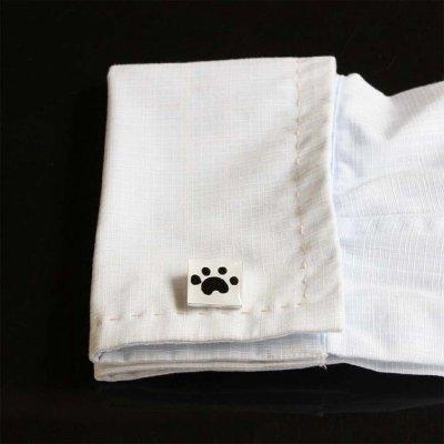 画像3: 猫の足跡カフスボタン(カフリンクス)