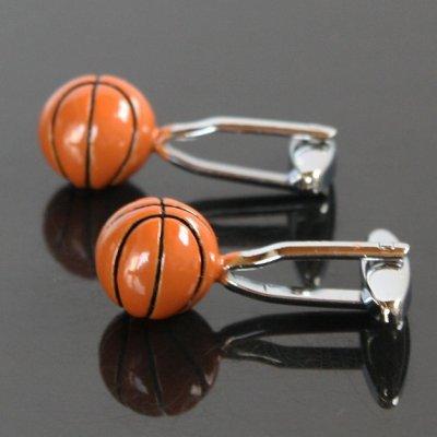 画像2: 立体バスケットボールカフスボタン(カフリンクス)