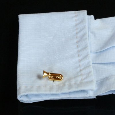 画像3: ゴールドチューバカフスボタン(カフリンクス)