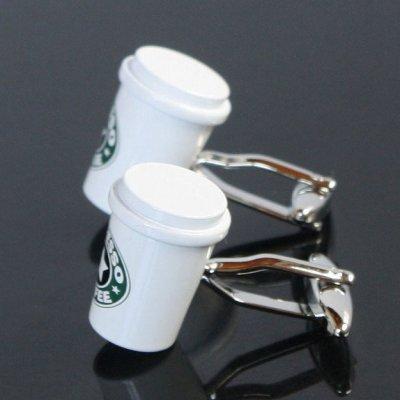 画像2: コーヒーカップカフスボタン(カフリンクス)