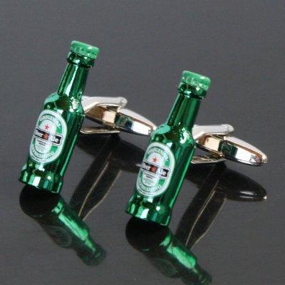 画像1: 瓶ビール2カフスボタン(カフリンクス)