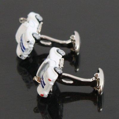 画像2: ホワイトACコブラカフスボタン(カフリンクス)