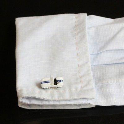 画像3: ホワイトACコブラカフスボタン(カフリンクス)