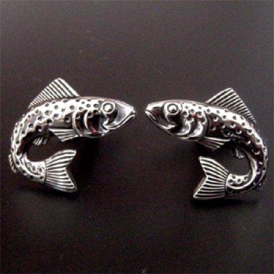 画像2: 魚モチーフカフス タイピンセット