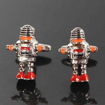 画像2: おもちゃのロボットカフス タイピンセット