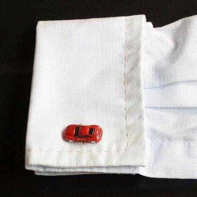 画像3: レッドスポーツカーカフスボタン(カフリンクス)