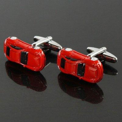 画像1: レッドスポーツカーカフスボタン(カフリンクス)
