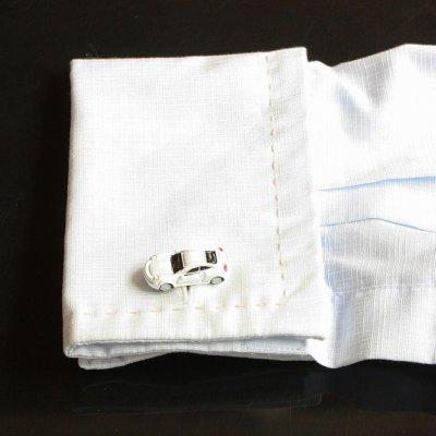 画像3: ホワイトスポーツカーカフスボタン(カフリンクス)