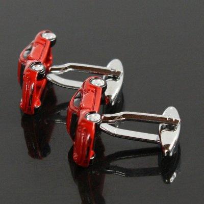 画像2: レッドスポーツカーカフスボタン(カフリンクス)