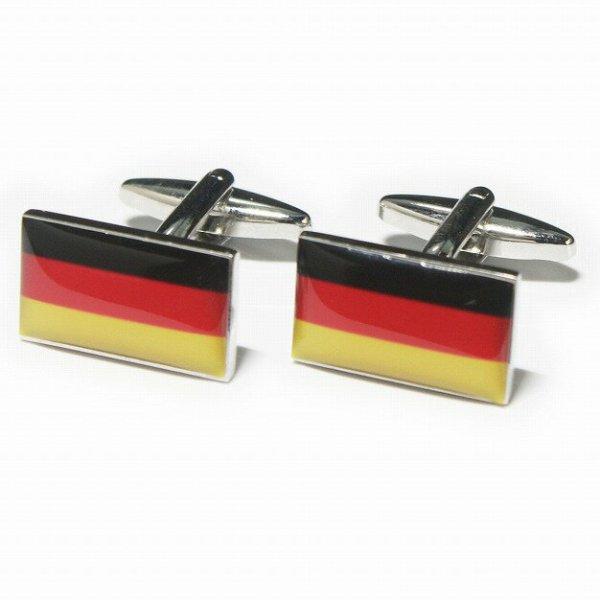 画像1: ドイツ国旗カフスボタン(カフリンクス) (1)