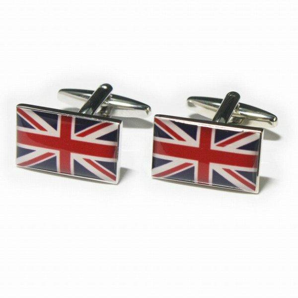 画像1: イギリス ユニオンジャック 国旗カフスボタン(カフリンクス) (1)