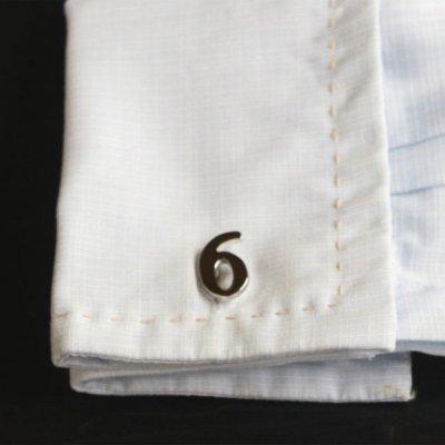 画像3: 数字の6カフスボタン・カフリンクス(バラ売り)