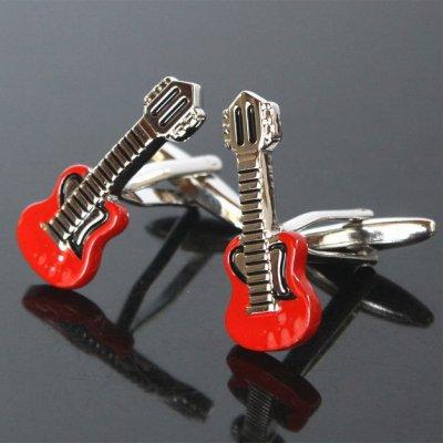 画像1: レッドギターカフスボタン(カフリンクス)