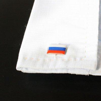 画像3: ロシア国旗カフスボタン(カフリンクス)