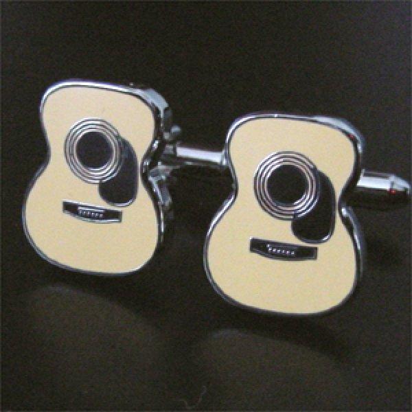 画像1: アコースティックギターカフスボタン(カフリンクス) (1)