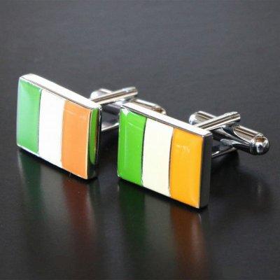 画像1: アイルランド国旗カフスボタン(カフリンクス)