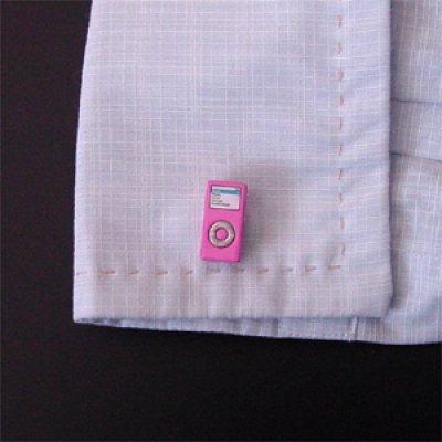 画像3: ピンクiPod nanoカフスボタン(カフリンクス)