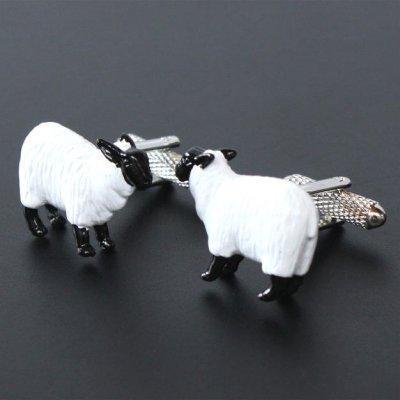 画像1: 羊モチーフカフスボタン(カフリンクス)