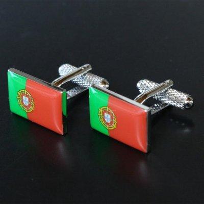 画像1: ポルトガル国旗カフスボタン(カフリンクス)