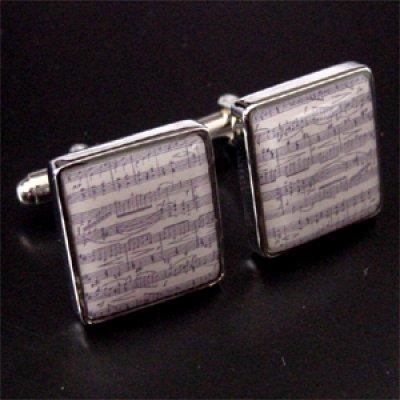 画像1: 楽譜カフスボタン(カフリンクス)