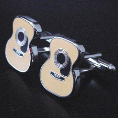 画像1: アコースティックギターカフスボタン(カフリンクス)