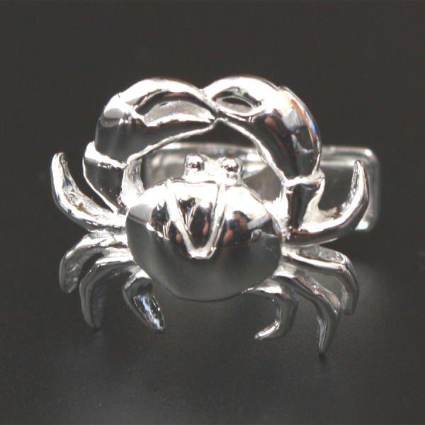 画像1: 蟹モチーフカフスボタン(カフリンクス)シルバー925 (1)