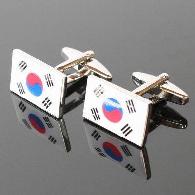 画像1: 大韓民国カフスボタン(カフリンクス)