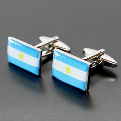 画像1: アルゼンチン国旗カフスボタン(カフリンクス)