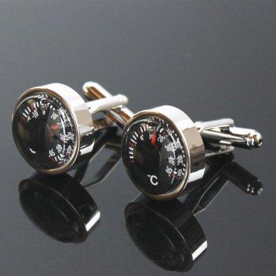 画像1: 温度計カフスボタン(カフリンクス)