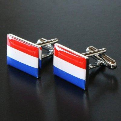画像1: オランダ国旗カフスボタン(カフリンクス)